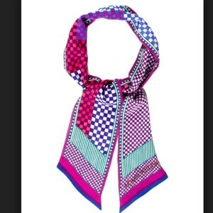 Louis Vuitton Purple Multi Silk Bandeau